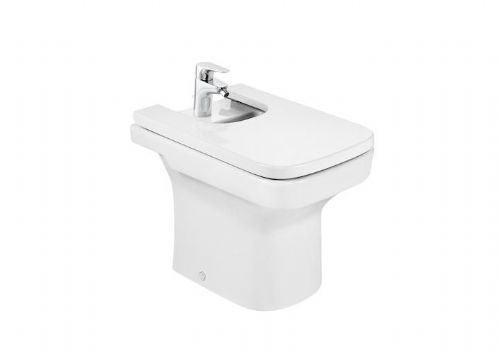 Roca Dama-N Floor Standing Bidet - Soft Close Bidet Cover - 1 Tap Hole - White